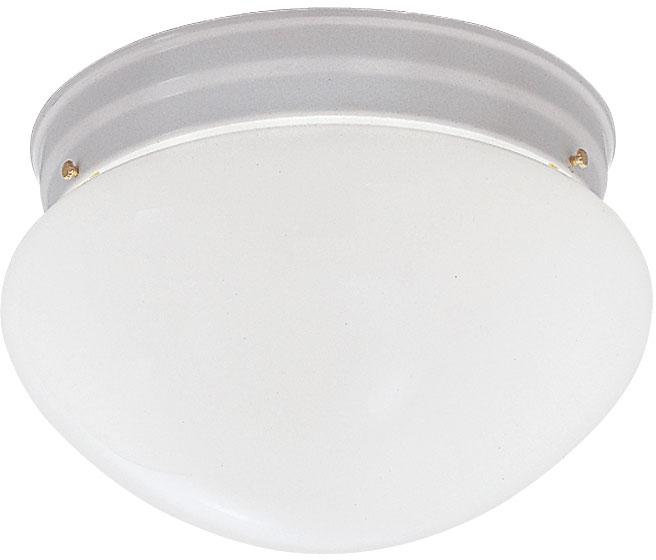 Designers Fountain WH Basic Flushmount White Flush Mount - Basic light fixture