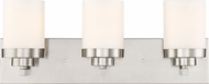 Designers Fountain 69603-SP Kaden Modern Satin Platinum 3-Light Bathroom Light