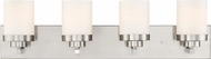 Designers Fountain 69604-SP Kaden Modern Satin Platinum 4-Light Bathroom Lighting Fixture