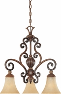 Designers Fountain 81583-BWG Montreaux Burnished Walnut with Gold Mini Lighting Chandelier