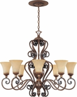 Designers Fountain 81588-BWG Montreaux Burnished Walnut with Gold Chandelier Lamp
