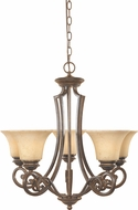 Designers Fountain 81885-FSN Mendocino Forged Sienna Ceiling Chandelier
