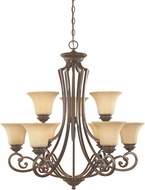 Designers Fountain 81889-FSN Mendocino Forged Sienna Hanging Chandelier