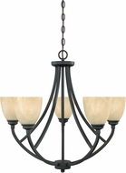 Designers Fountain 82985-BNB Tackwood Burnished Bronze Chandelier Light