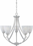 Designers Fountain 82985-SP Tackwood Satin Platinum Chandelier Lighting