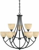Designers Fountain 82989-BNB Tackwood Burnished Bronze Lighting Chandelier