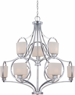 Designers Fountain 84089-CH Mirage Contemporary Chrome Lighting Chandelier
