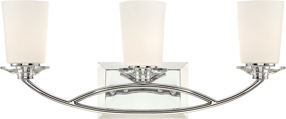 Designers Fountain 84203-CH Palatial Contemporary Chrome 3-Light ...