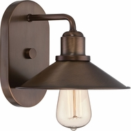 Designers Fountain 85401-OSB Newbury Station Old Satin Brass Wall Sconce Light