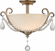 Designers Fountain 86011-ARS Gala Argent Silver Ceiling Lighting Fixture