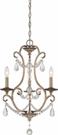 Designers Fountain 86083-ARS Gala Argent Silver Mini Hanging Chandelier