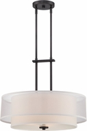 Designers Fountain 86131-BBR Fusion Contemporary Biscayne Bronze Ceiling Light Pendant