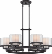 Designers Fountain 86186-BBR Fusion Contemporary Biscayne Bronze Chandelier Lamp