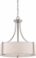 Designers Fountain 86231-SP Axel Modern Satin Platinum Drop Ceiling Light Fixture