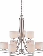 Designers Fountain 86289-SP Axel Contemporary Satin Platinum Chandelier Light