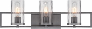 Designers Fountain 86503-CHA Elements Contemporary Charcoal 3-Light Bathroom Light Sconce