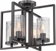 Designers Fountain 86511-CHA Elements Contemporary Charcoal Flush Mount Ceiling Light Fixture
