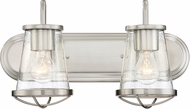 Designers Fountain 87002-SP Darby Modern Satin Platinum 2-Light Vanity Light