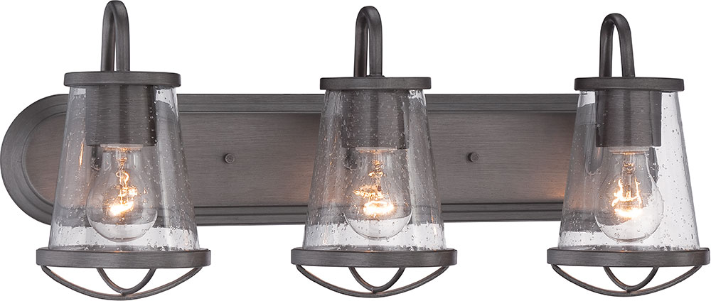 Designers Fountain 87003-WI Darby Weathered Iron 3-Light Vanity ...