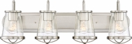 Designers Fountain 87004-SP Darby Modern Satin Platinum 4-Light Bathroom Light Fixture
