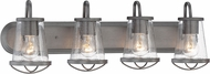 Designers Fountain 87004-WI Darby Contemporary Weathered Iron 4-Light Bathroom Vanity Lighting