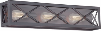 Designers Fountain 87303-SB High Line Satin Bronze 3-Light Bathroom Sconce