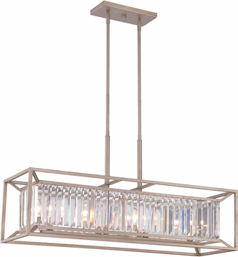 Designers Fountain 87438-AP Linares Contemporary Aged Platinum Kitchen Island Light