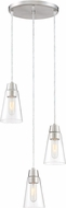 Designers Fountain 87830-3-SP Echo Modern Satin Platinum Multi Pendant Lighting Fixture