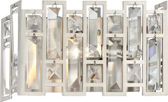 Designers Fountain 88201-SP West 65th Modern Satin Platinum Wall Lighting Sconce