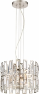 Designers Fountain 88211-SP West 65th Contemporary Satin Platinum Drop Lighting