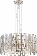 Designers Fountain 88231-SP West 65th Contemporary Satin Platinum Drum Ceiling Light Pendant