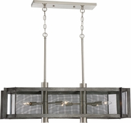 Designers Fountain 89338-WI Baxter Modern Weathered Iron with Satin Platinum Island Lighting
