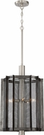 Designers Fountain 89355-WI Baxter Contemporary Weathered Iron with Satin Platinum Foyer Lighting Fixture