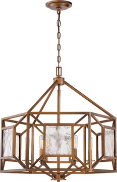 Designers Fountain 89486-GB Athina Contemporary Gilded Bronze Ceiling Chandelier