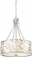 Designers Fountain 90131-SP Brentwood Contemporary Satin Platinum Drum Pendant Light