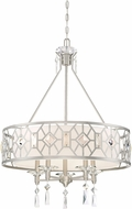 Designers Fountain 90185-SP Brentwood Satin Platinum Drum Pendant Light