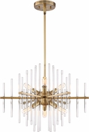 Designers Fountain 90486-BAB Reeve Contemporary Burnished Antique Brass Mini Hanging Chandelier