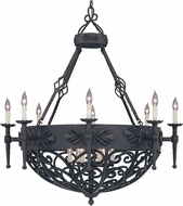 Designers Fountain 9189-NI Alhambra Natural Iron Chandelier Lamp