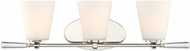 Designers Fountain 92203-PN Abree Polished Nickel 3-Light Bath Wall Sconce