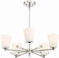 Designers Fountain 92285-PN Abree Polished Nickel Ceiling Chandelier