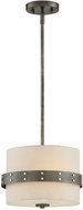 Designers Fountain 92430-WI Garrett Modern Weathered Iron Drum Drop Lighting