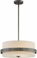 Designers Fountain 92431-WI Garrett Contemporary Weathered Iron Drum Drop Ceiling Lighting