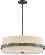 Designers Fountain 92433-WI Garrett Modern Weathered Iron Drum Ceiling Light Pendant