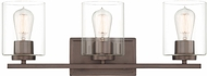 Designers Fountain 93003-SCB Liam Contemporary Satin Copper Bronze 3-Light Bathroom Wall Light Fixture