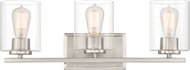 Designers Fountain 93003-SP Liam Contemporary Satin Platinum 3-Light Bathroom Lighting
