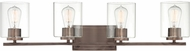 Designers Fountain 93004-SCB Liam Contemporary Satin Copper Bronze 4-Light Lighting For Bathroom