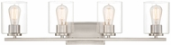 Designers Fountain 93004-SP Liam Modern Satin Platinum 4-Light Bath Lighting