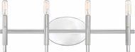 Designers Fountain 93204-CH Jesa Contemporary Chrome 4-Light Bathroom Light