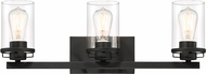 Designers Fountain 93303-BK Jedrek Modern Black 3-Light Bathroom Lighting Fixture