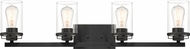 Designers Fountain 93304-BK Jedrek Modern Black 4-Light Vanity Lighting